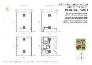 Mặt bằng Shophouse Park 7- Times City Park Hill