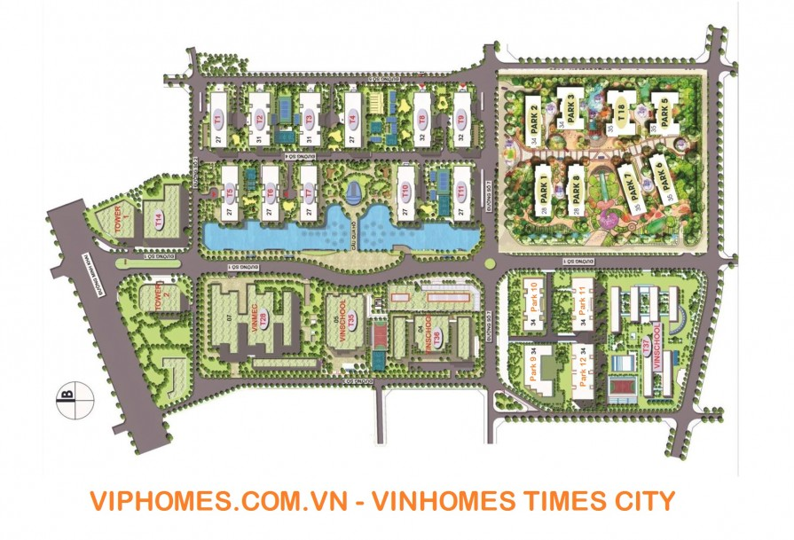 mat bang tong the times city viphomes