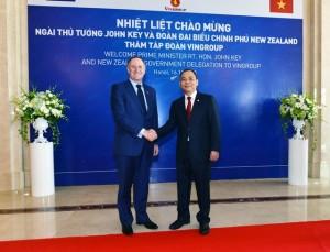 16/11/2015: Thủ tướng New Zealand thăm và làm việc tại Tập đoàn Vingroup