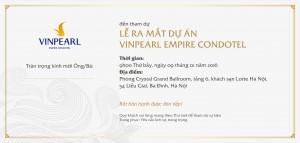 Mở bán Vinpearl Empire Condotel Nha Trang 09/01/2016
