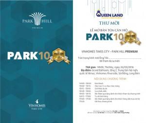 26/03/2016 Mở bán Park 10 – Master Premium
