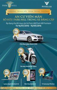 Chính sách bán hàng Vinhomes Times City và Park Hill Tháng 9 năm 2016