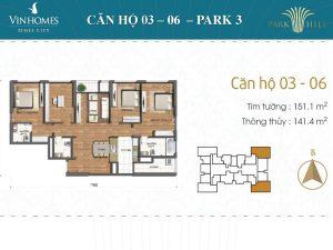 Bảng giá cho thuê căn hộ Times City Park Hill 2017